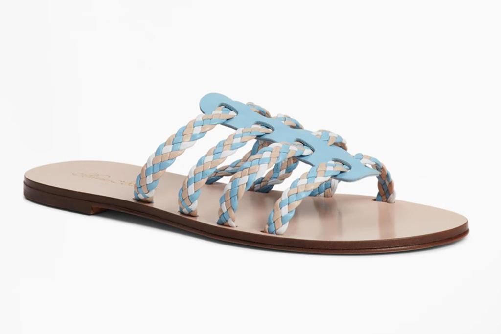 brooks brothers, sale, womens, plaid, sandals, braid