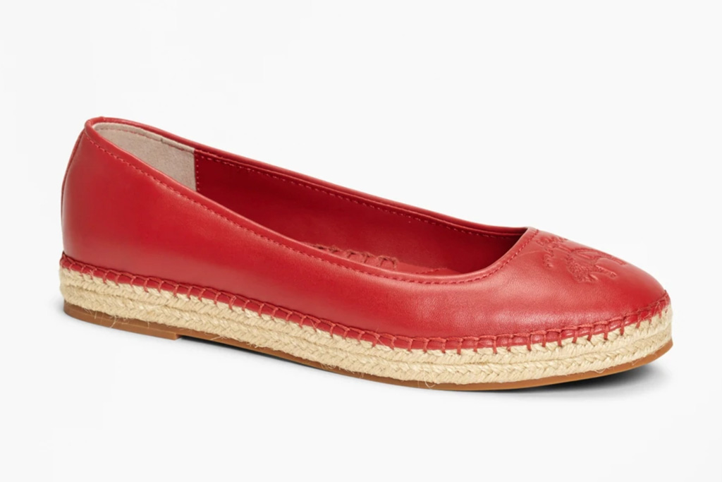 brooks brothers, sale, womens, red flats, espadrilles
