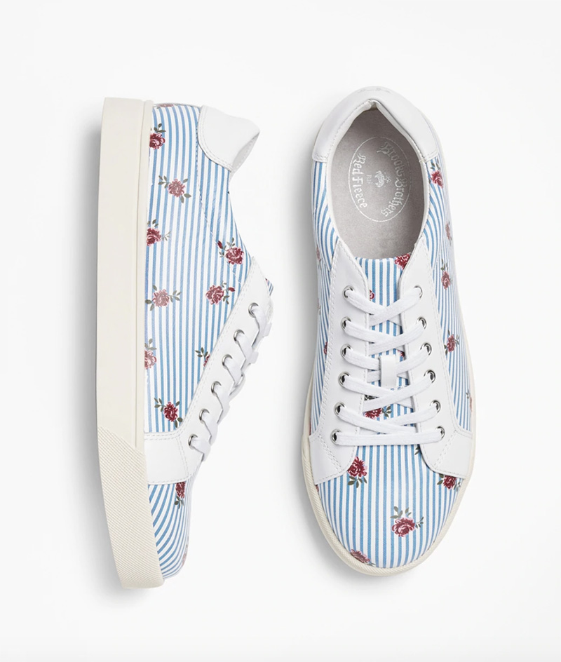 brooks brothers, sale, womens, floral, sneakers