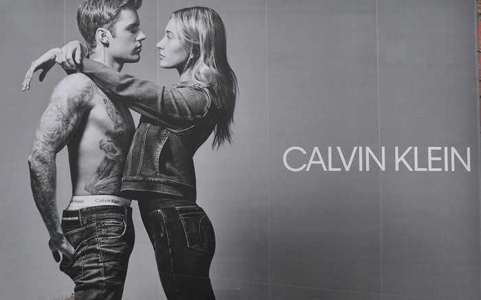 Justin Bieber and Hailey Bieber on an billboard for Calvin Klein's CK50 located at East Houston and Lafayette StreetJustin Bieber and Hailey Baldwin Bieber, Calvin Klein billboard advertisement, New York, USA - 05 Nov 2019