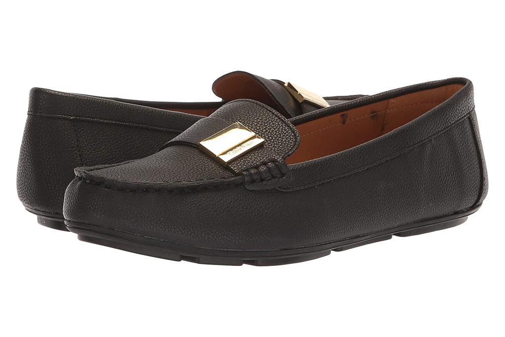 calvin klein, black loafers