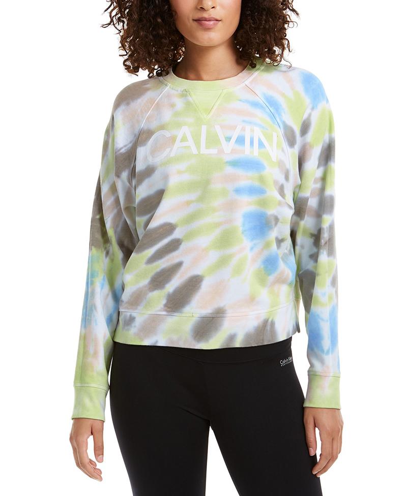 calvin klein, sweatshirt, tie-dye, sale, macy's