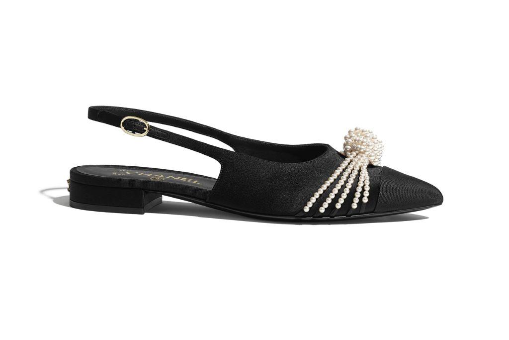 chanel, chanel shoes, chanel pearl shoes, pearl shoes, gigi hadid, chanel gigi hadid