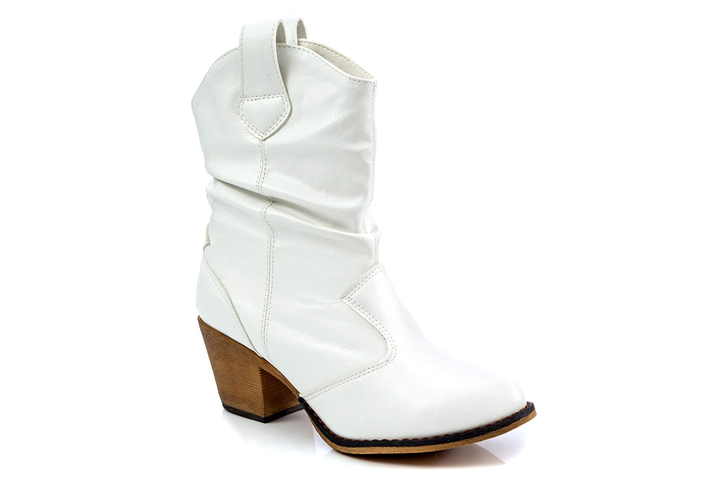 Charles Albert, white western boots