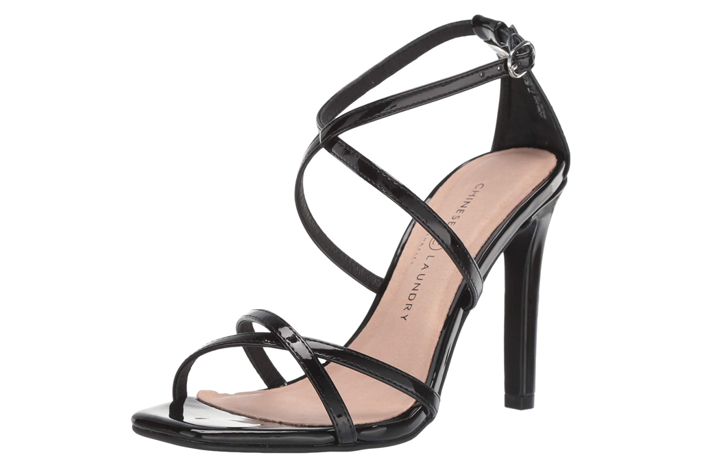 chinese laundry,  heels, sandals, strappy, black