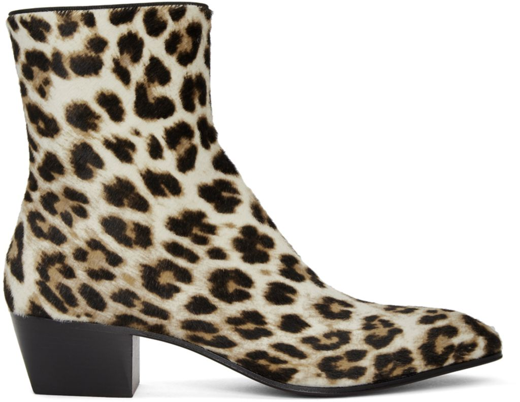 christian louboutin, louboutin, louboutin men's boots, men's boots, chelsea boot, christian louboutin men's, men's shoes, leopard, leopard print