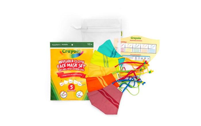 crayola x schoolmaskpack, crayola face mask, back to school face mask