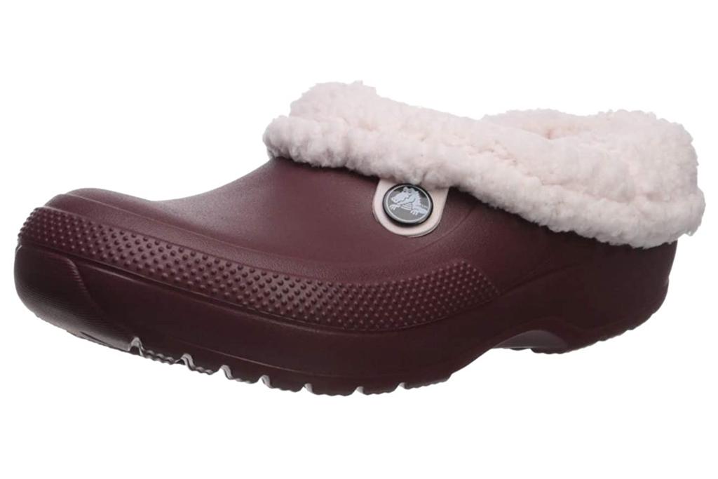 crocs, fuzzy clogs