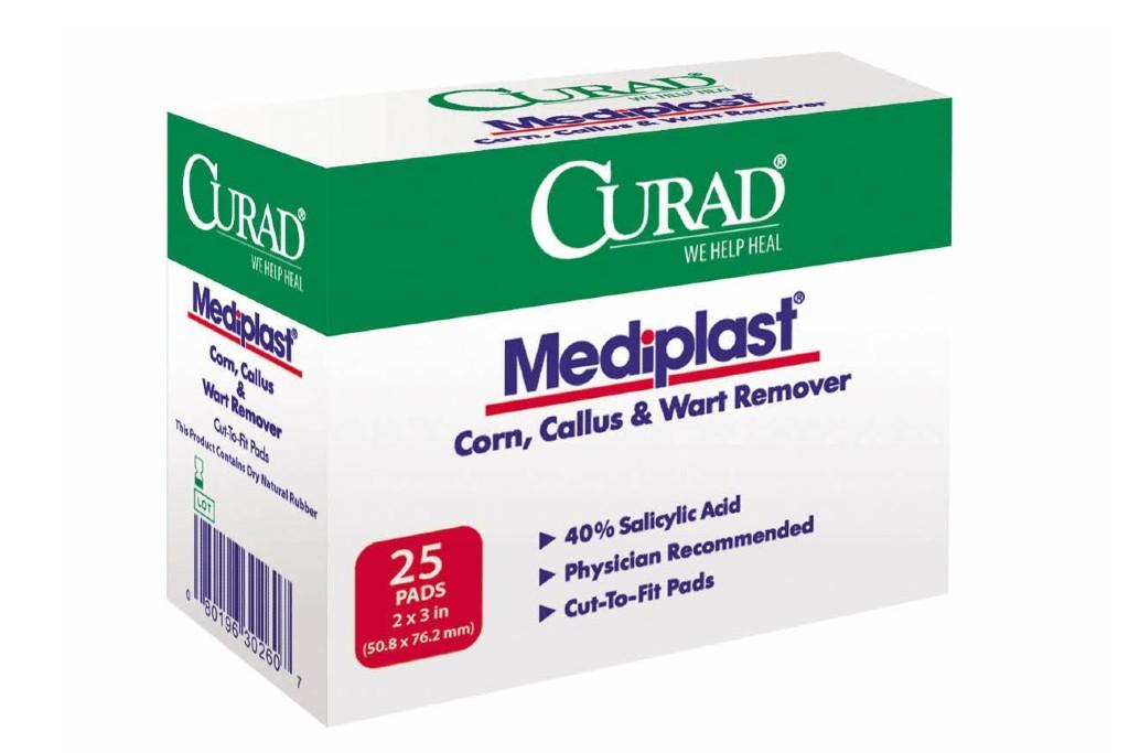 Curad Mediplast Corn, Callus, Wart Remover Pads