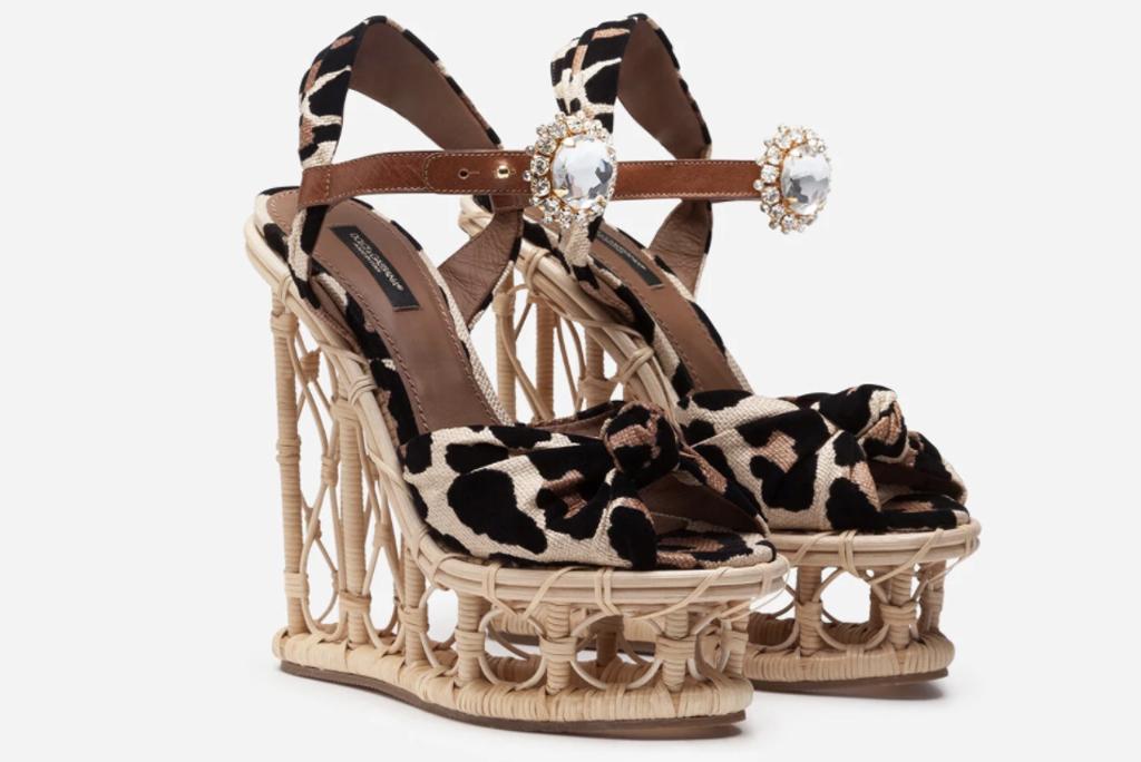 Dolce & Gabbana, wicker heels, cardi b