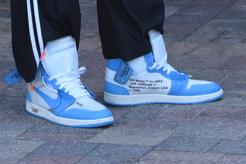 Dennis Rodman, off-white jordans, shoe detail, off-white x nike sneakers, off-white unc jordans