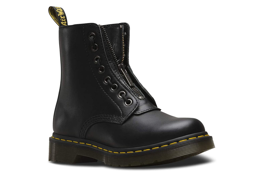 dr martens, doc martens, zip front, boots