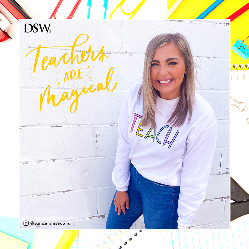 Dsw, teacher give back, teachers, discount, shoes