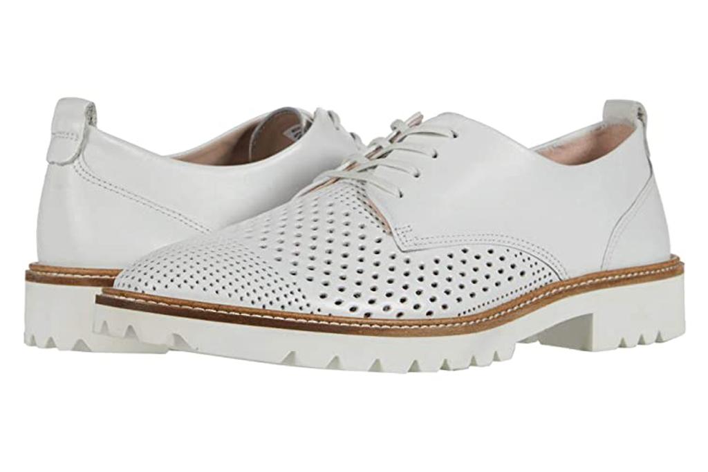 Ecco, white loafers