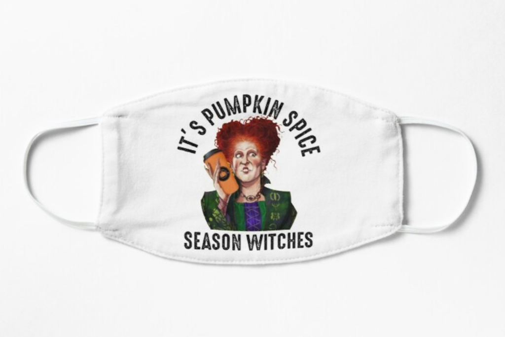 face mask, hocus pocus, witches, fall