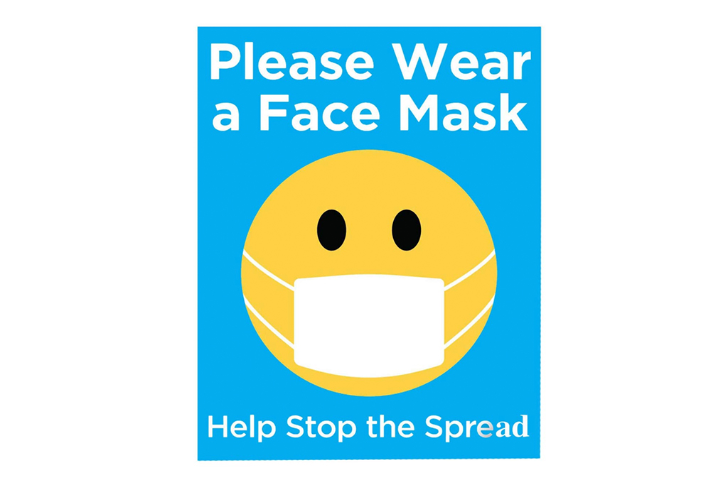 face mask sign, covid-19 sign, amazon sign