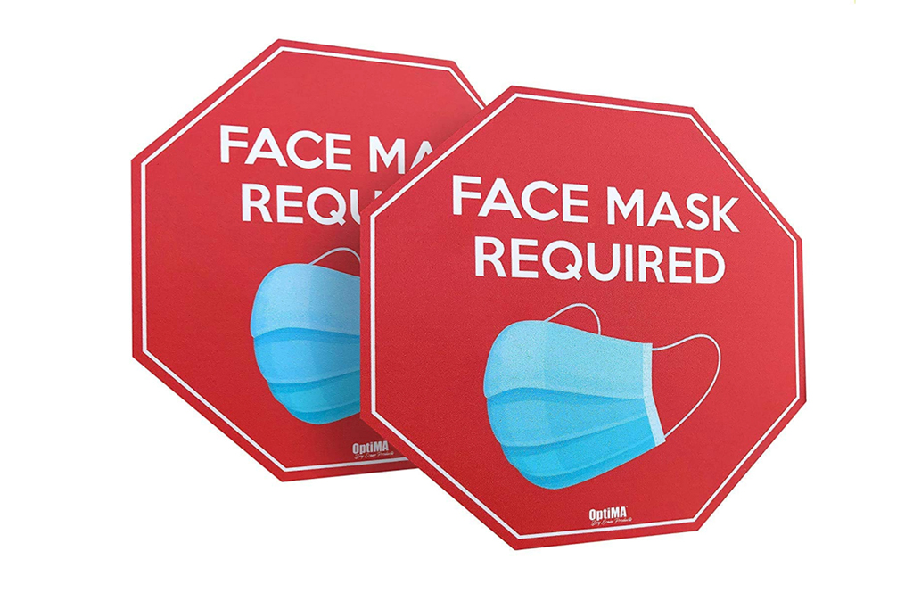 face mask sign, covid-19 sign, face mask decals
