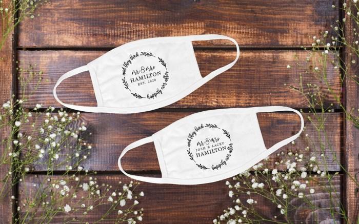 wedding face mask, custom face mask, etsy fae mask