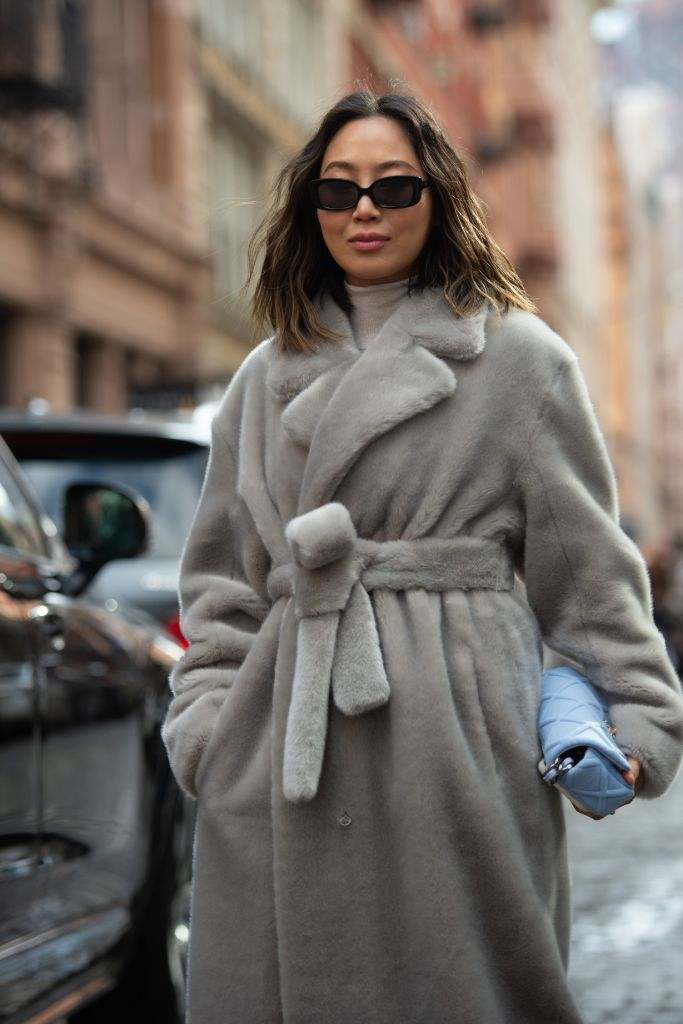 fall 2020 fashion trends, fall 20 trends, fashion trends, fuzzy coat, teddy coat, influencer, aimee song, song of style