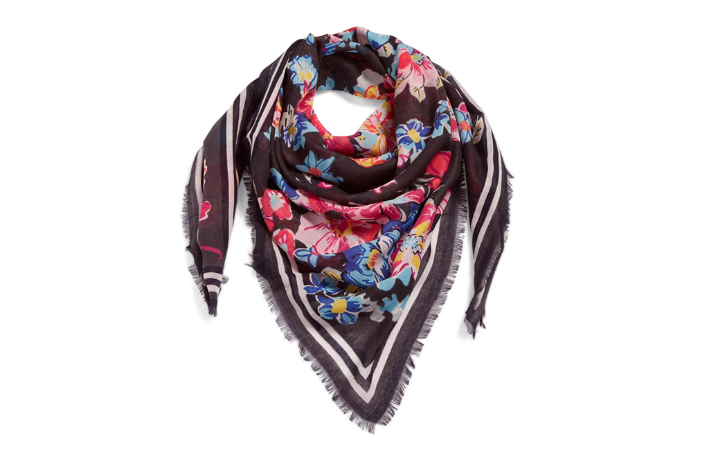 vera bradley scard, fashionable face coverings, floral scarf