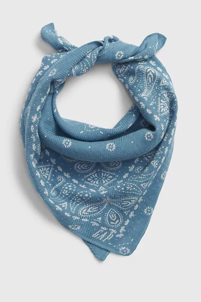 the gap scarf, fashionable face covering, bandana