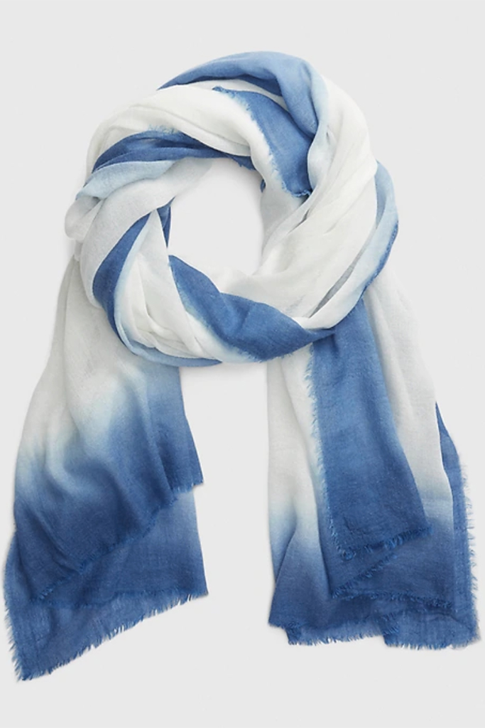 gap scarf, tie-dye scarf, fashionable face coverings