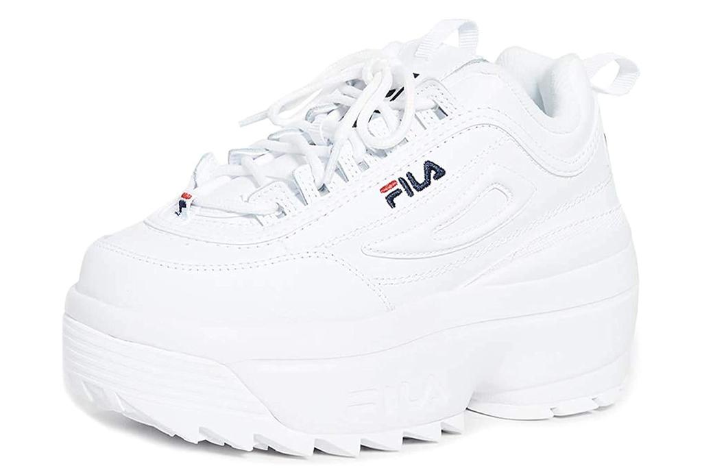 fila, chunky sneakers, white, platform