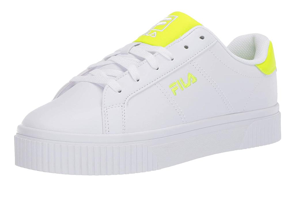fila, sneakers, yellow, white