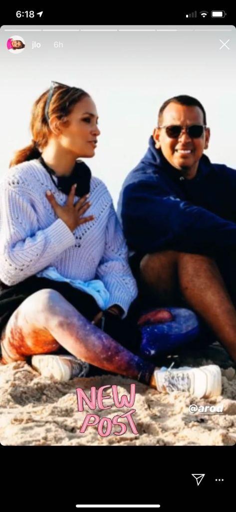 Jennifer Lopez , alex rodriguez, beach