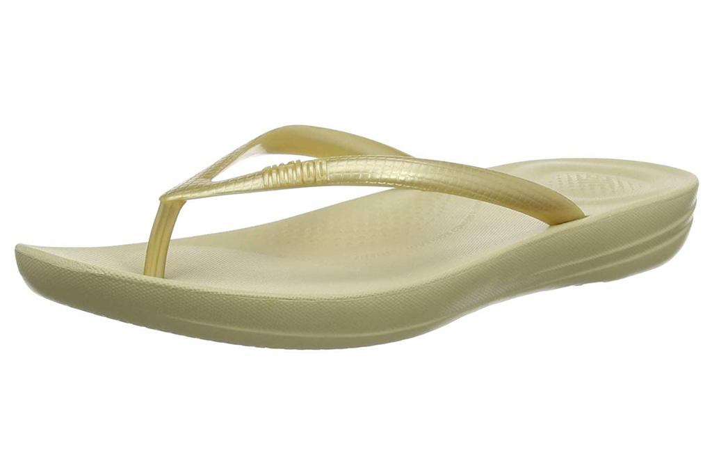 fit flop, gold, sandals