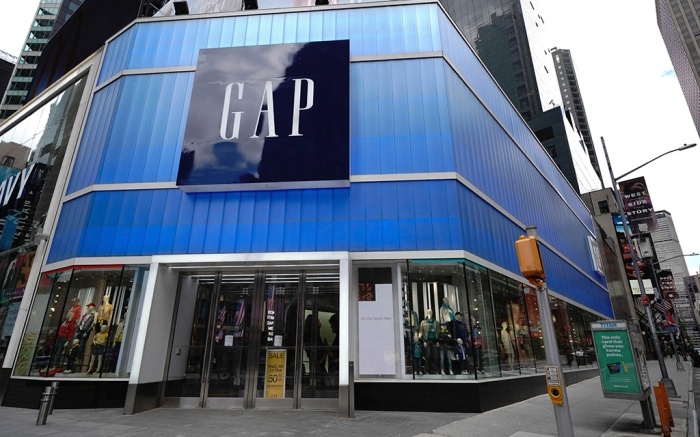 Photo by: John Nacion/STAR MAX/IPx 2020 5/9/20 A view of Gap Clothing Store in Times Square in New York City USA during the coronavirus pandemic on May 9, 2020 in New York City. COVID-19 has spread to most countries around the world, claiming over 270,000 lives with over 3.9 million infections reported. Gap Sued For Back Rent On Midtown Store As Retail Sales Plummet.