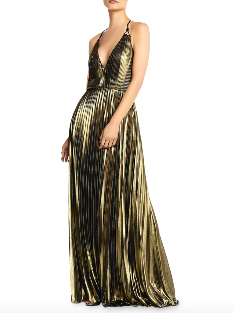 gold dress, aidan