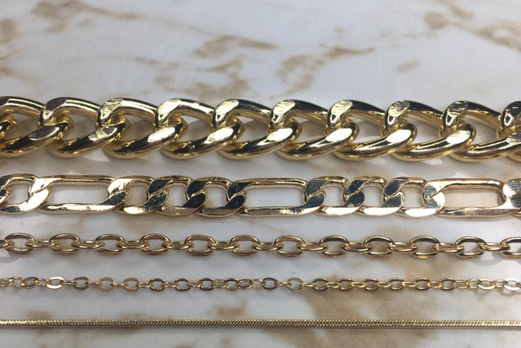 golden anklet, chain anklet, anklet