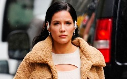 halsey, style, dress, jacket, hair