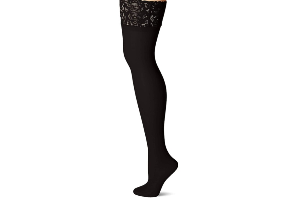 Hanes Plus Size Curves Lace Thigh High