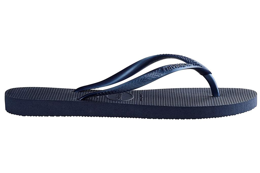 havaianas, blue, thong sandals, flip flops