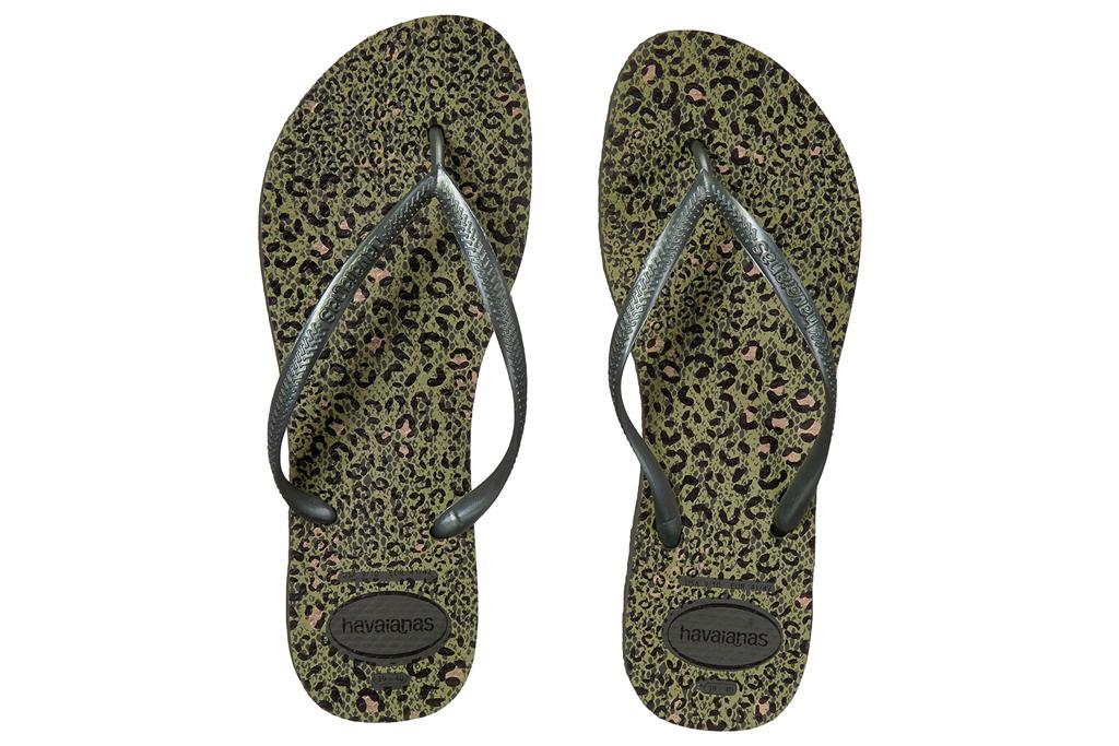 havaianas, flip flops, gold
