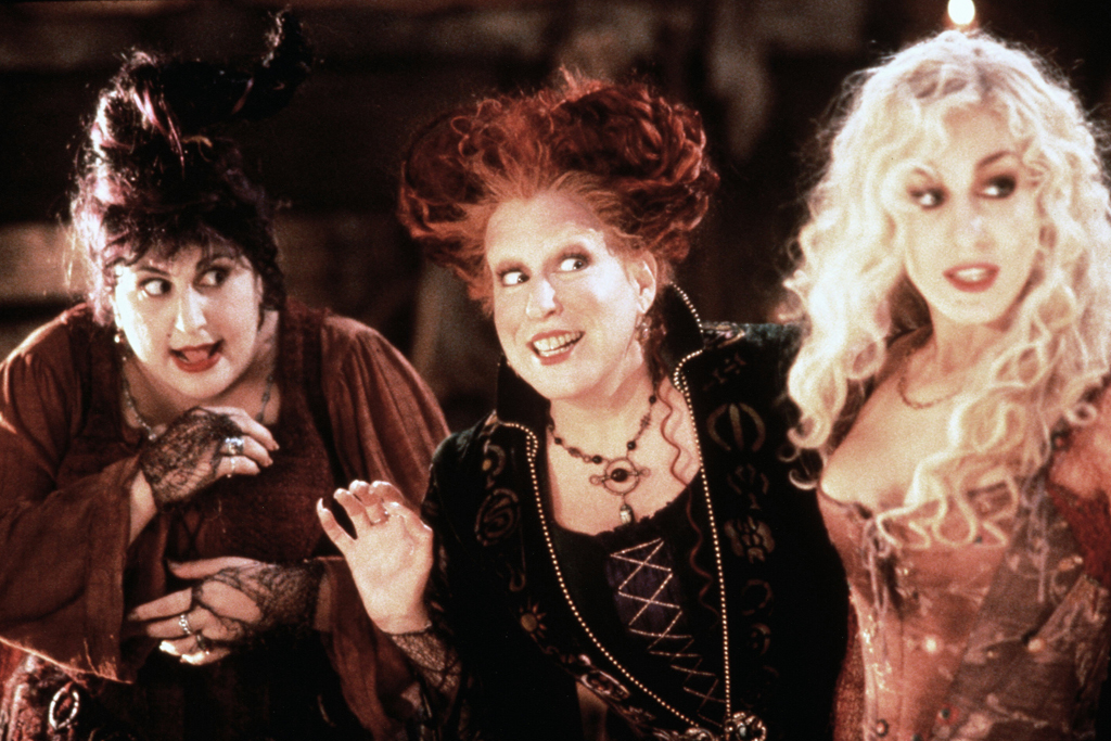 Kathy Najimy, Bette Midler, Sarah Jessica Parker, hocus pocus, movie, set, 1993, witches