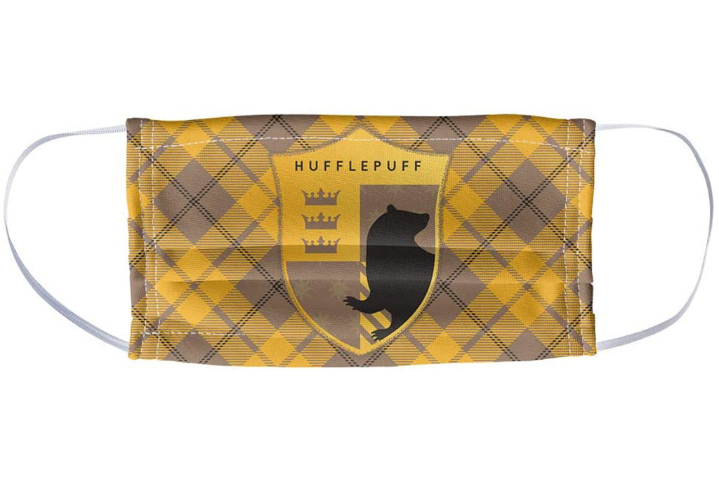 harry potter face mask, hogwarts face mask, hufflepuff face mask