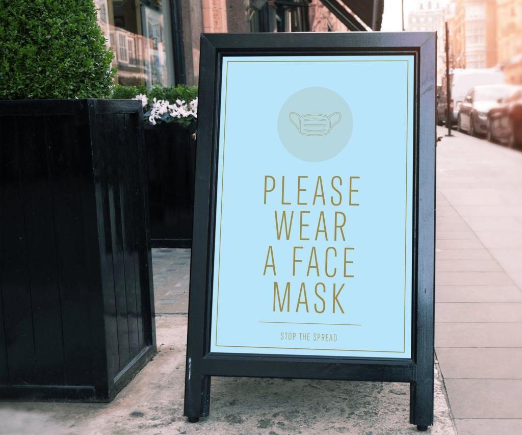 face mask sign, etsy