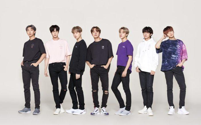 BTS, V, Jungkook, RM, Jin, Suga, J-Hope, jimin, fila, voyager collection,
