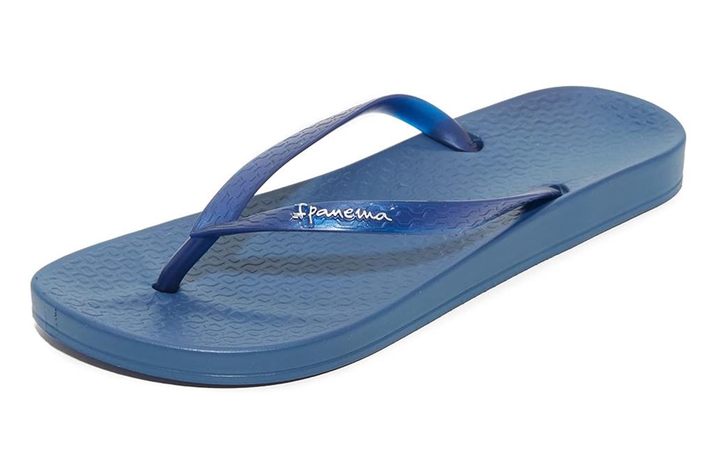 ipanema,  blue, thong sandals, flip flops