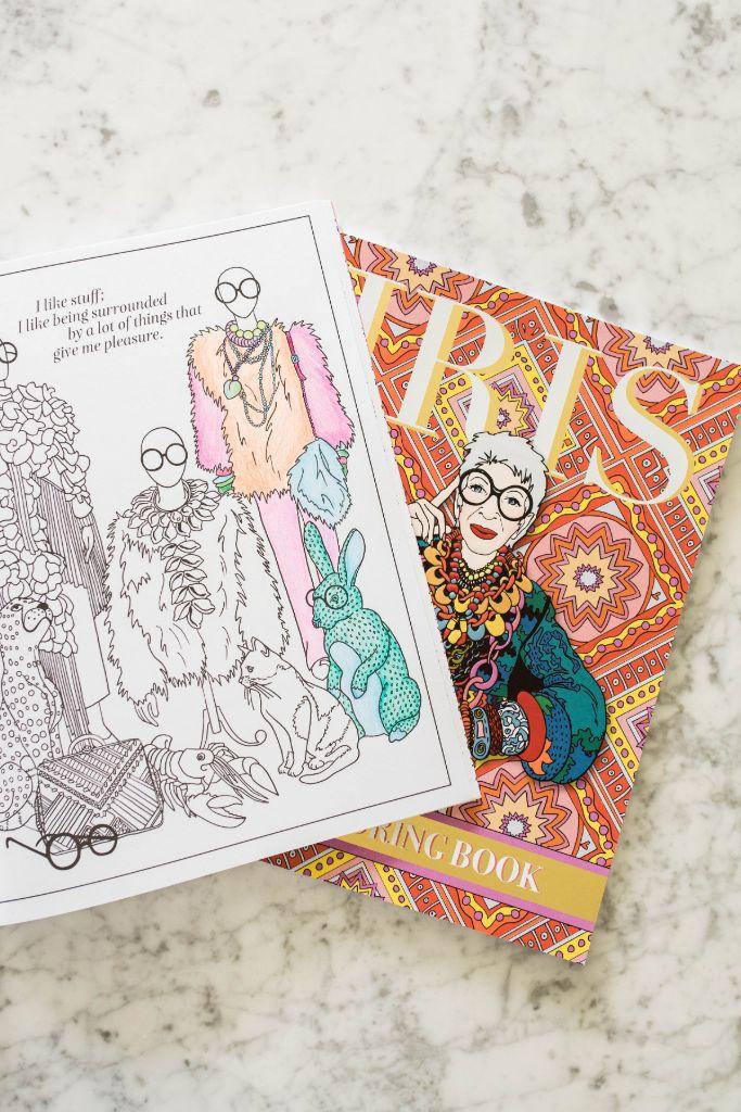 iris apfel, iris apfel coloring book