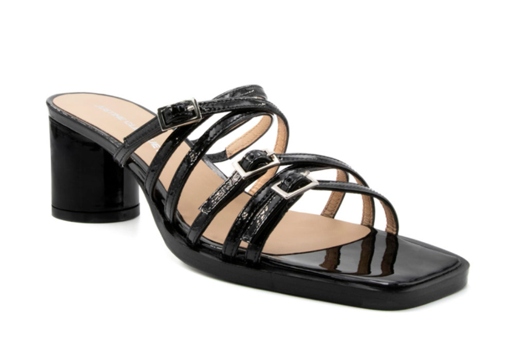 justine clenquet shoes, justine clenquet fall winter 20, jane black patent sandal