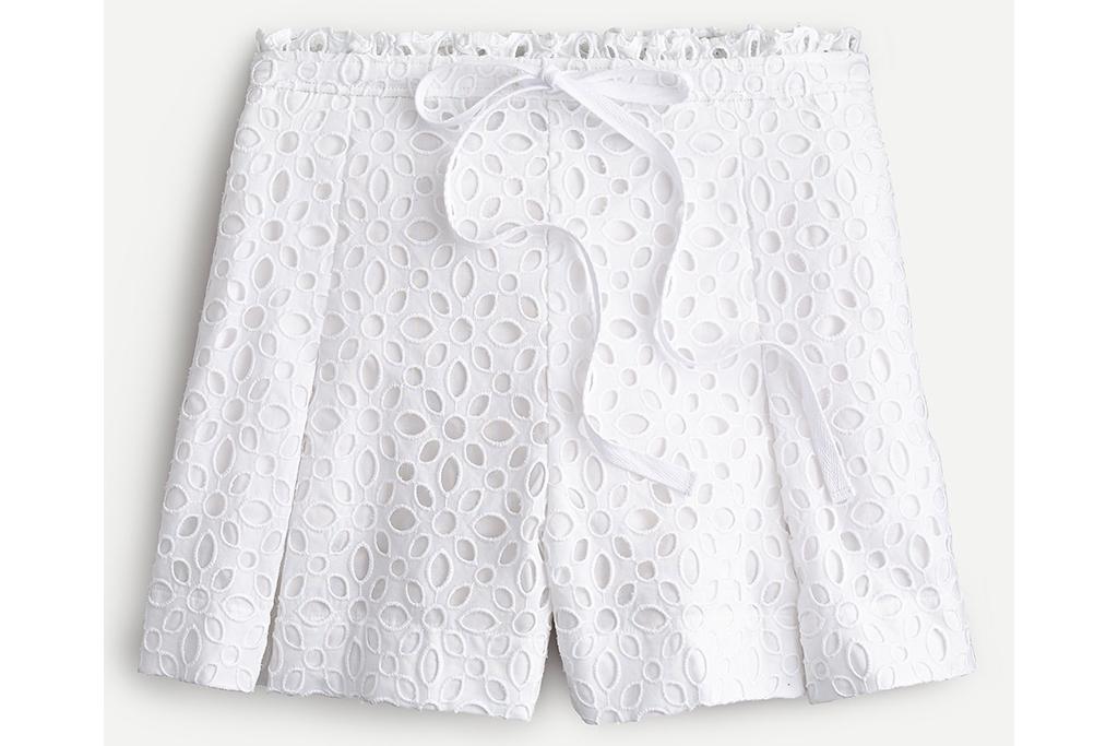 j. crew sale, j. crew shorts, lace shorts