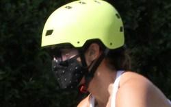jennifer lopez, bike, ride, helmet, sneakers,