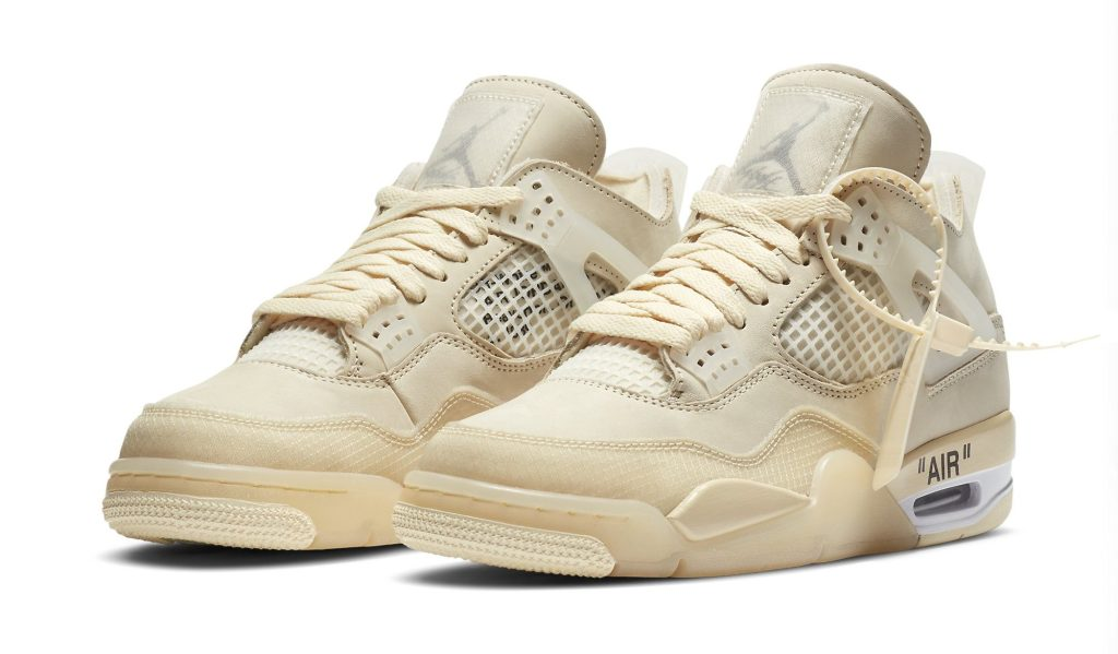 Off-White x Air Jordan 4 Women's 'Sail'