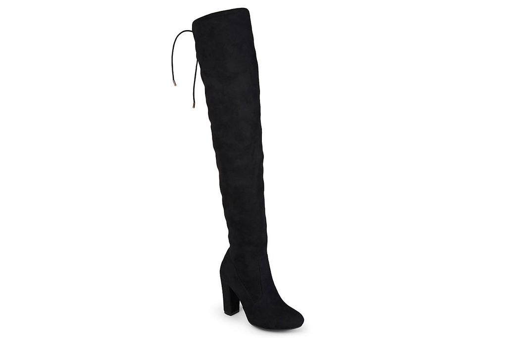 black boots, thigh high, boot