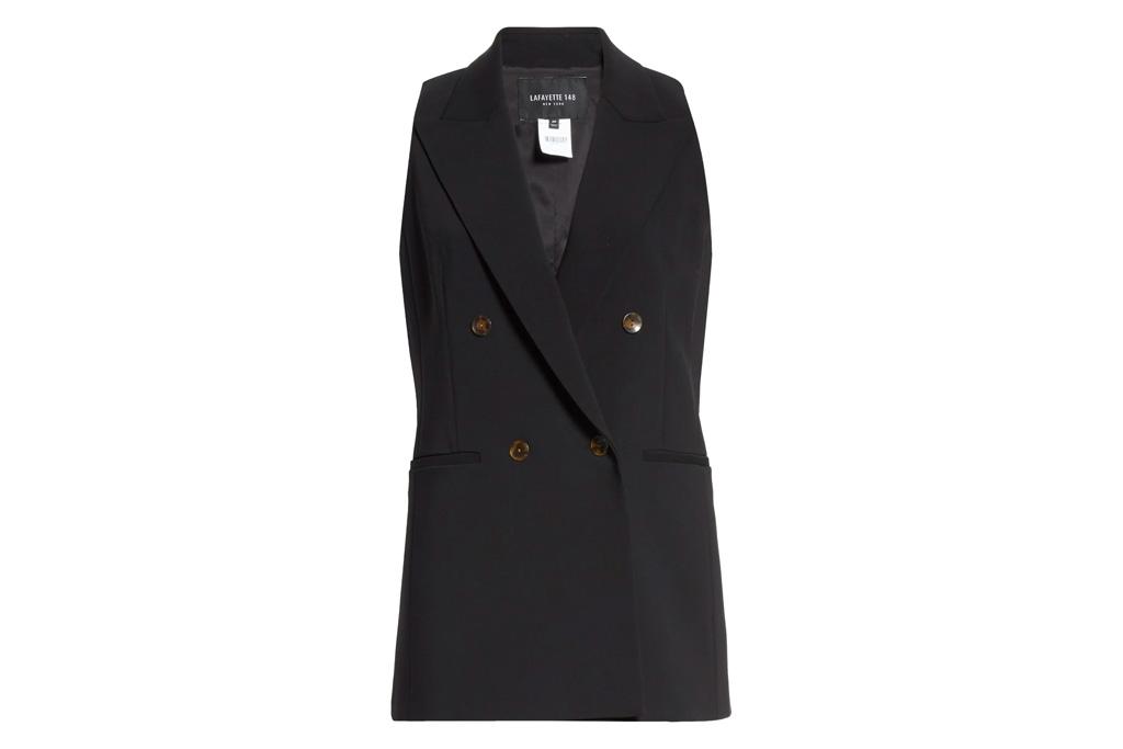 vest, black, tuxedo, lafayette 148
