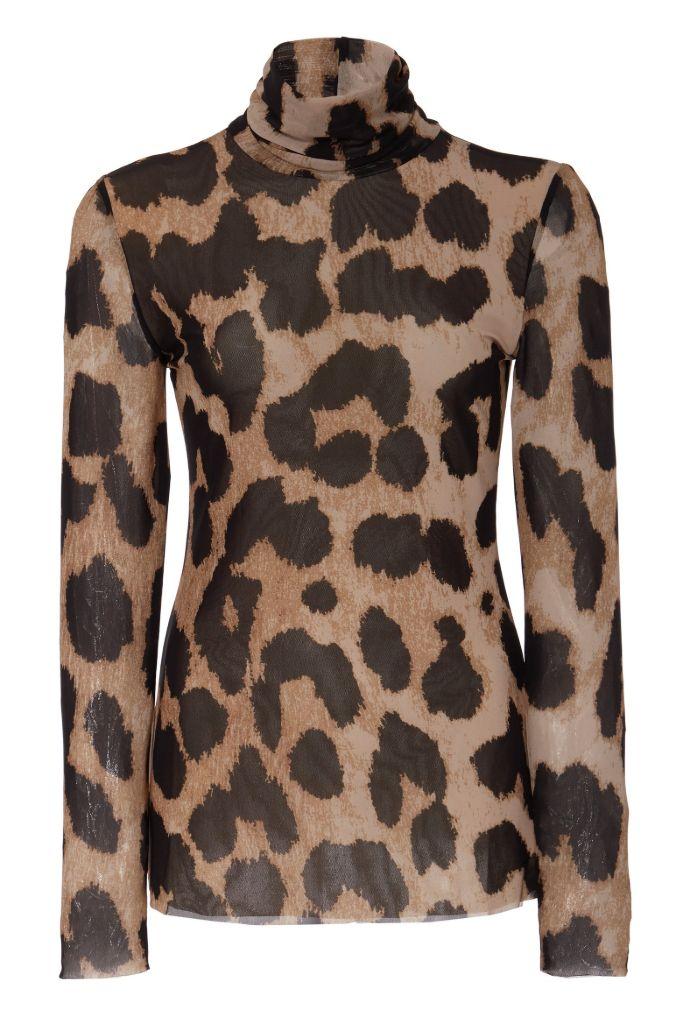 ganni, ganni top, leopard print, leopard print top, turtleneck, fall 2020 fashion trends, fashion